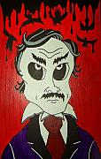 Po-po Paintings - Skully Poe by Chris  Fifty-one