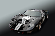 Photomanipulation Photo Prints - Skunk GT40 Print by Bill Dutting