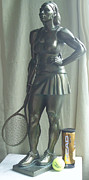Original Sculpture Posters - Skupture Tennis Player Poster by Zlatan Stoilov