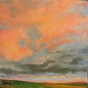 Prairie Sky Paintings - Sky Afire by Margaret Aycock
