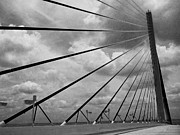 Sunshine Skyway Bridge Prints - Sky and Cables Print by Judy Hall-Folde