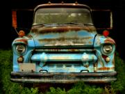 Old Chevrolet Truck Posters - Sky Blue and Still Cool Poster by Thomas Young