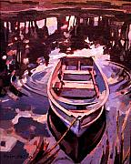 Row Boat Drawings Prints - Sky Boat Print by Tim  Heimdal
