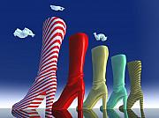Shoe Digital Art Originals - Sky Boot  by Joerg Bernhard Klemmer