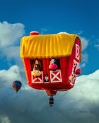 Hot Air Balloon Posters - Sky Farming  Poster by Bob Orsillo