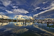 Moorings Prints - Sky in the Water Print by Douglas Barnard