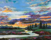 River Mixed Media - Sky Oasis by Marty Husted