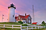 Fences Prints - Sky of Passion - Nobska Lighthouse Print by Thomas Schoeller