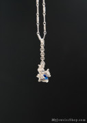 Nugget Necklace Art - Sky Silver by Nicholas Damario
