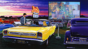 Adult Male Prints - Sky View Drive-In Print by Bruce Kaiser