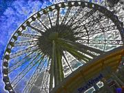Photoshop Photos - Sky Wheel by Elizabeth Hoskinson