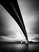 Scotland Framed Prints - Skye Bridge Framed Print by Nina Papiorek