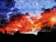 Sky Art - Skyfire by Chris Reed