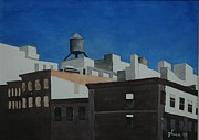 Streetscape Paintings - Skyline by Lester Glass