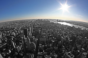 Historic Statue Digital Art Prints - Skyline Manhattan Print by Marcel Schauer