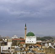 Pasha Posters - Skyline of Acre and the Jezzar Pasha Mosque Poster by Noam Armonn