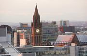 Y120817 Art - Skyline Of Deansgate At Dusk by Allan Baxter