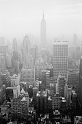 Grainy Prints - Skyline Of Lower Manhattan, New York City, New York, Usa Print by Aaron Johnston