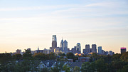 Philadelphia Skyline Framed Prints - Skyline View of Philadelphia Framed Print by Bill Cannon