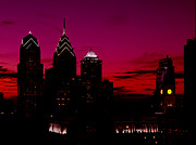 Philadelphia Photo Prints - Skylline of Philadelphia Pennsylvania Print by H G Mielke