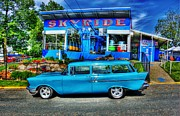 Paint Photograph Prints - Skyride Print by Perry Webster