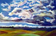 Print On Acrylic Prints - Skyscape Print by Saga Sabin