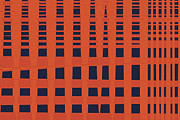Tangerine Mixed Media Posters - Skyscraper Poster by Bonnie Bruno