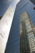 Sparse Acrylic Prints - Skyscraper reflection Acrylic Print by Jacobs Stock Photography