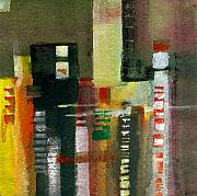 Sparkling Mixed Media Framed Prints - Skyscrapers Framed Print by Anil Nene