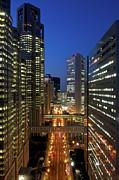 Skyscrapers Of Shinjuku, Tokyo Print by Vladimir Zakharov
