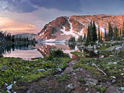 Mountain Light Prints - Skytop Lake Sunrise Print by Leland Howard