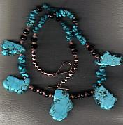 Buffalo Jewelry - Slabs N Bits with Onyx and Copper necklace by White Buffalo