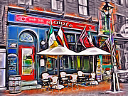 Irish Mixed Media Framed Prints - Slainte Irish Pub and Restaurant Framed Print by Stephen Younts