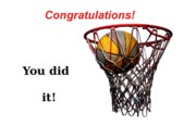 Sports Posters - Slam Dunk Congratulations Greeting Card Poster by Yali Shi