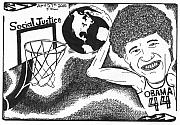 Obama Art Mixed Media - Slam Dunk Social Justice by Yonatan Frimer Maze Artist