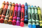 Crayons Photos - Slanted Row of Color by Valerie Morrison