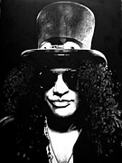Bdcurran Drawings - Slash by Brian Curran