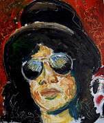 Guitars Paintings - Slash  by Jon Baldwin  Art