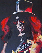 Slash Painting Posters - Slash Poster by Martin Putsey