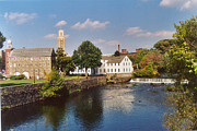 Blackstone River Prints - Slater Mill Complex Print by Barry Doherty