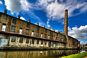 Old Mills Prints - Slater Terrace Burnley Print by Sandra Pledger