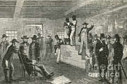 Negroes Photo Framed Prints - Slave Auction, 1861 Framed Print by Photo Researchers