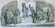 Racism Prints - Slave Auction In Richmond, Virginia Print by Everett