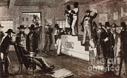 Slavery Art - Slave Auction In Virginia by Photo Researchers