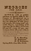 Civil War Drawings Posters - Slave Auction Poster by War Is Hell Store