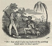 Racism Prints - Slave Henry Bibb Begs For His Family Print by Everett