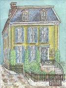 Rainbow Row Paintings - Slave Home in Charleston South Carolina by John A Fowler