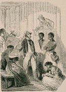 Racism Prints - Slave Market In The United States Print by Everett