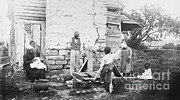 Slave Quarters Posters - Slave Quarters Poster by Photo Researchers