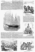 Slave Ship Framed Prints - Slave Trade, 1857 Framed Print by Granger